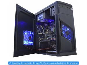 (Clube Magalu) Gabinete K-Mex Solid Snake ATX - 4 Fans Black Piano - R$161