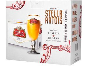 [APP] Kit Cerveja Stella Artois American Standard Lager - 269ml Cada 8 Unidades com 1 Taça