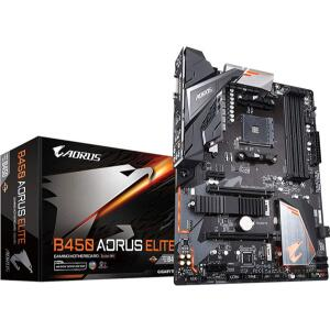Placa Mãe Gigabyte B450 Aorus Elite, Chipset B450, AMD AM4, ATX, DDR4 - R$899