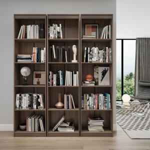 Estante para Livros Modular Biblioteca Zatto Haus Imbuia   R$639