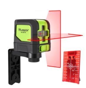 Huepar 2 linhas de nível do laser auto nivelamento (4 graus) verde vermelho | R$165