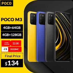 Smartphone Xiaomi POCO M3 4GB+64GB Global Octa-Core | R$788