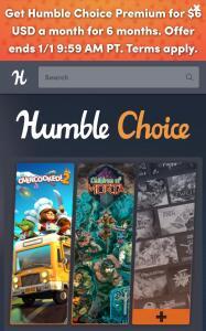 Plano Premium por 6 dólares durante 6 meses | Humble Choice