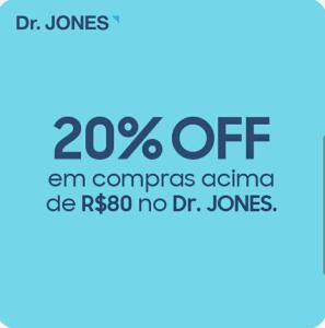 (Samsung Members) - 20% off acima de R$80 no Dr. JONES