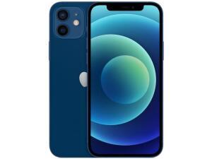 "iPhone 12 Apple 256GB Azul Tela 6,1"" - Câm. Dupla 12MP iOS R$6030"