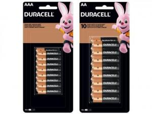 Kit de Pilha AA Pequena + AAA Palito Alcalina - 32 Unidades Duracell | R$80