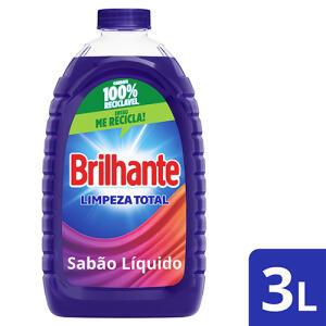 Detergente Líquido Brilhante Roupas Brancas E Coloridas 3l | R$16