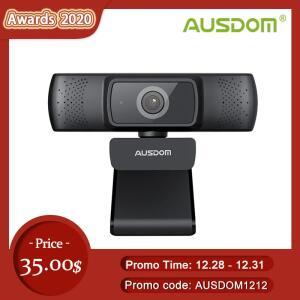 Webcam Ausdom AF640 Full HD com foco automático e microfone com cancelamento de ruído | R$193