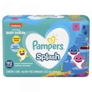 PAMPERS LENCOS UMEDECIDOS BABY SHARK PACK 192 UNIDADES | R$ 10