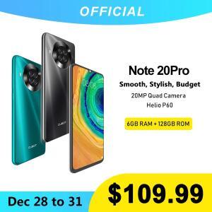 Cubot Note 20 Pro quad camera 6GB de RAM + 128GB ROM 4200mah | R$558