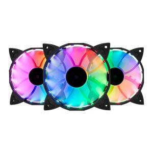 Kit Ventoinhas Mancer Z100 RGB 3x120mm + Controladora, MCR-Z10RGB-01 | R$93