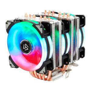 COOLER PARA PROCESSADOR ALSEYE DR90 6 Heat Pipes , RGB PWM 3X90MM | R$174