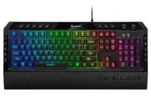 Teclado Mecânico Gamer Sharkoon Skiller SGK5, RGB, ABNT2 - SGK5   R$240