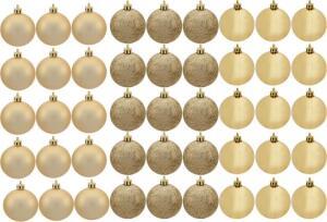 [cliente ouro-app] Kit Bola de Natal Dourada NATAL074 Casambiente - 4,5cm 45 Unidades