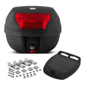 Baú Plástico Moto 28 Litros Pro Tork Smart Box 2 Vermelho - R$57