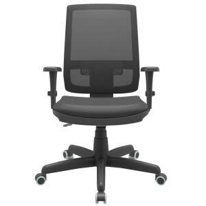Cadeira Giratória Plaxmetal Brizza Presidente Rodízios - Preto | R$475