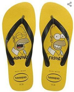 [PRIME] Chinelo Simpsons, Havaianas, Adulto Unissex (tam 33 ao 38) - R$29