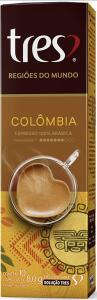 Cápsula de Café Espresso, Colômbia, Regiões Do Mundo, 10 Unidades, Tres, 3 Corações R$13