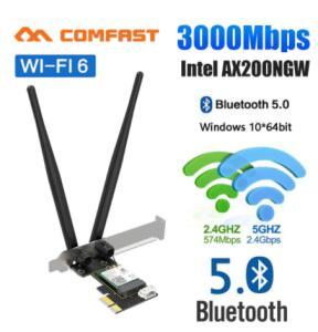 Adaptador Pcie ax200-SE 3000Mbps Bluetooth 5.1   R$139