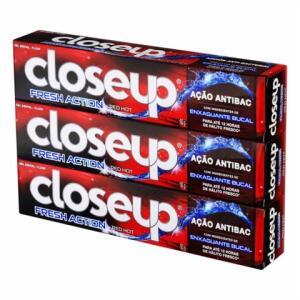 Creme Dental em Gel Closeup Proteção 360º Red Hot Leve 3 Pague 2 90g | R$5