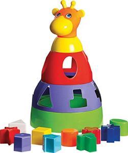 [Prime] Brinquedo Educativo Girafa Didática com Blocos Merco Toys | R4 24