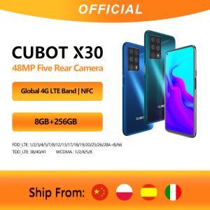 "Cubot x30 celular versão global 48mp cinco câmera 32mp selfie 8gb 256gb 6.4"" - R$900"