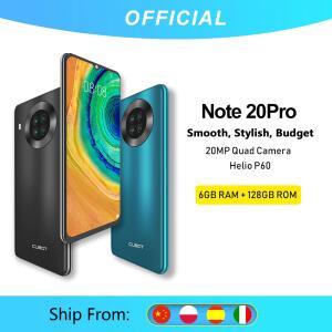 Celular Cubot Note 20 Pro - Quad câmera smartphone 6gb/8gb RAM + 128gb ROM
