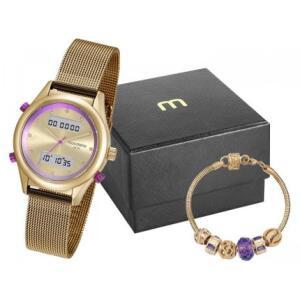 Relógio Feminino Mondaine Anadigi - 99120LPMVDE7K1 Dourado com Acessórios | R$ 120