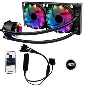 Water Cooler ARGB + Controladora + controle remoto Modelo: Ice Chill 240 | R$407