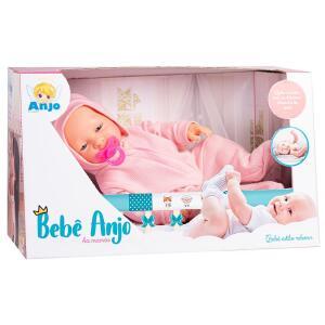 Boneca Bebê Anjo Collection Macacão | R$35