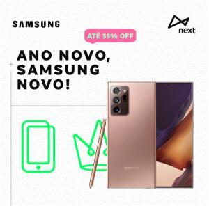 Mimos Next com até 35% em produtos Samsung