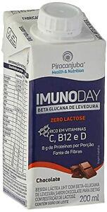 [5 Unid - Recorrência] Bebida Láctea Piracanjuba Imunoday Sabor Chocolate Zero Lactose 200ml   R$8