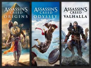Pacote Assassin's Creed: Valhalla, Odyssey e Origins | R$266