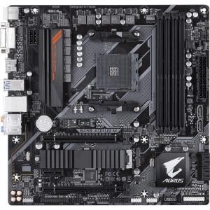 Placa Mãe Gigabyte B450 AORUS M, Chipset B450, AMD AM4, mATX, DDR4 R$719