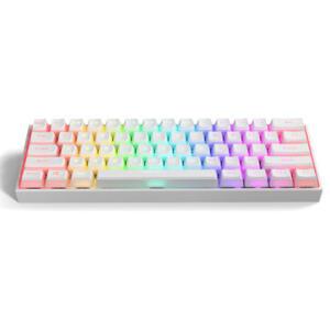 Teclado Mecânico GamaKay K61 USB-C RGB Translúcido | R$244