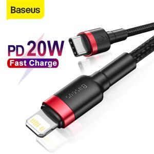 Baseus usb c cabo para cabo tipo c iphone 12 pd 18w 20w cabo de carga rápida - R$20