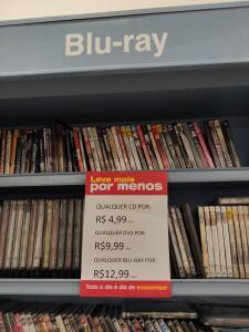 [LOJA FÍSICA Americanas Rio de Janeiro] CDs, DVDs e Blu-rays a partir de 4,99