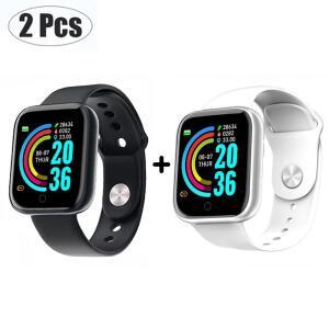 [App] Kit com 2 Smartwatch Y68 R$69