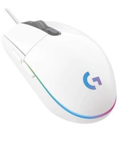 [PRIME] Mouse Gamer RGB Logitech G203 LIGHTSYNC Branco R$129