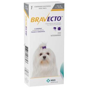 Bravecto Cães De 2 A 4,5 Kg