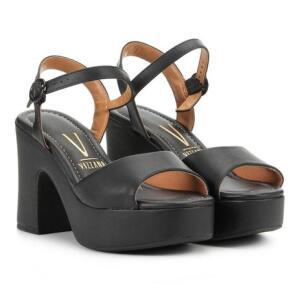 (MAGALU) 2 sandálias meia pata Vizano preta por 35,00. - R$35