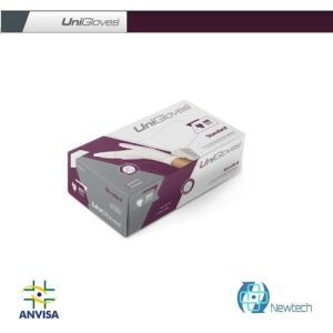Luva de Latex Tam. M para Procedimento Unigloves c/Pó 100 UN R$66