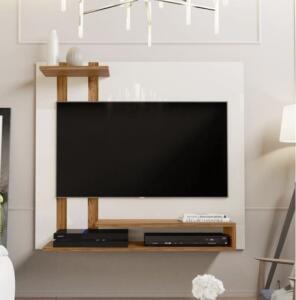 (CUPOM DE DESCONTO + AME) Painel Para Tv Smart Plus - Off White / Nature - R$113