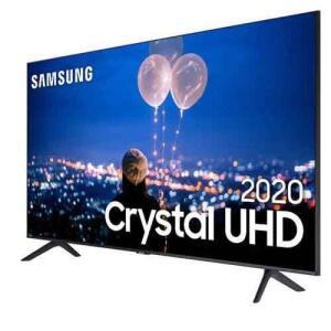 """Smart TV LED 50"""" UHD 4K Samsung 50TU8000 Crystal UHD R$2374"""