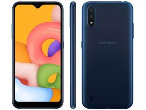 [Cliente Ouro] Smartphone Samsung Galaxy A01 32GB Azul   R$ 611