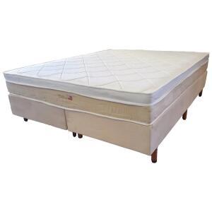 Cama Box Queen Size Premium Sommier + Colchão Queen Size Premium Dallas com Molas Pocket 69x158x198 cm - Bege R$940