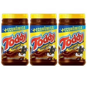 Kit Achocolatado em Pó Chocolate Toddy Original - 800g 3 Unidades | R$25