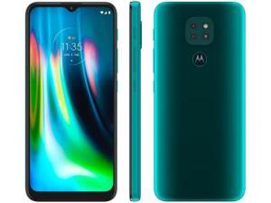 Smartphone Motorola Moto G9 Play Verde Turquesa 64GB, 4GB RAM   R$ 1.169