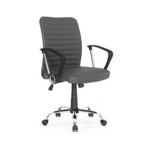 Cadeira de escritório Diretor estofada Dan TM Cinza | CC + AME: R$277