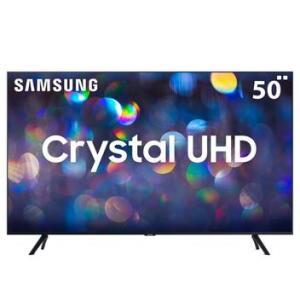 "Smart TV LED 50"" Ultra HD 4K Samsung TU8000 Processador Crystal 3 HDMI 2 USB | R$2327"
